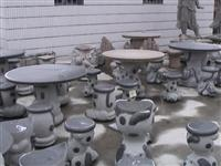 Stone Table and Chair