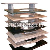 Granite Multicolor Red Vanity Top