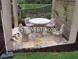 Stone Table & Bench 06