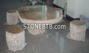 Stone Table & Bench 08