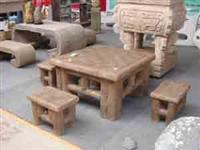Stone Table & Bench 02