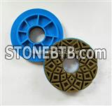 China Edge polishing pad with plastic snail lock for stone and concrete polishing