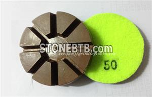 China copper bond polishing pad for stone and concrete