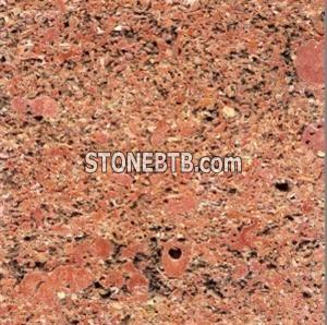 Red Stone Travertine Sink