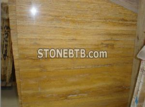 Golden Yellow Travertine Slab