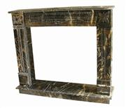Black Gold Marble Fireplace