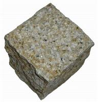 G350 Sunset Gold Granite Cube