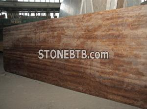 Noce travertine vein cut slab
