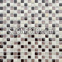 Glass Mix Stone Mosaic Tile (SF615023)