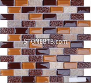 Glass Stone Mosaic Tile SF234809