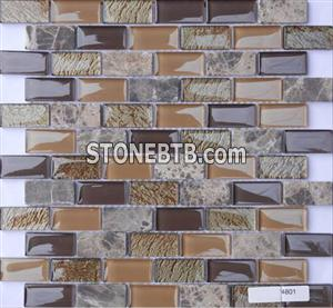 Glass Stone Mosaic Tile (SF234801)