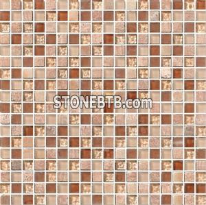 Crystal Mix Stone Mosaic Tile (SF15004)