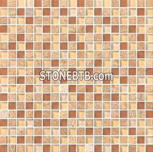 Crystal Mix Stone Mosaic Tile (SF615003)