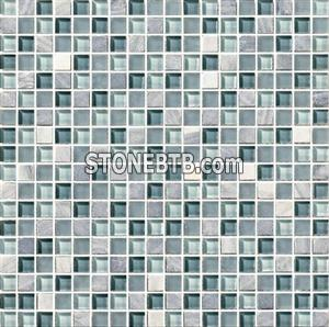 Crystal Mix Stone Mosaic Tile (SF15010)