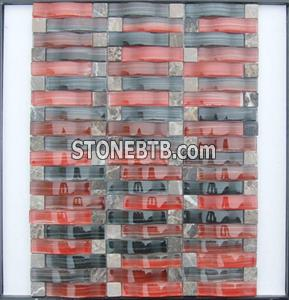 Arch Crystal Glass Mosaic Tile SFQ6405