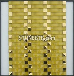 Arch Crystal Glass Mosaic Tile (SFQ6406)