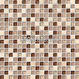 Crystal Mix Stone Mosaic Tile SF15013