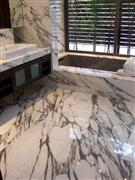 Calacatta Vagli Marble Bathroom Design