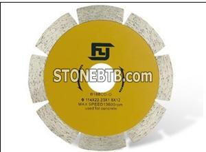 Segmented Type Dry Cutting Blade for Concrete