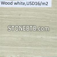wood white marble