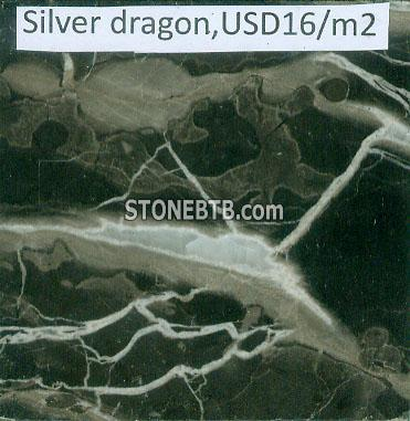 silver dragon marble