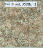 peach red granite