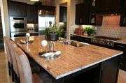 Indian Golden Granite Kitchen Island