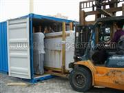 Special fork lift to load slabs
