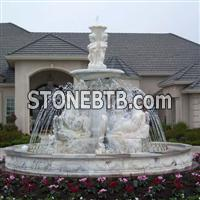 Natural stone garden water fountain