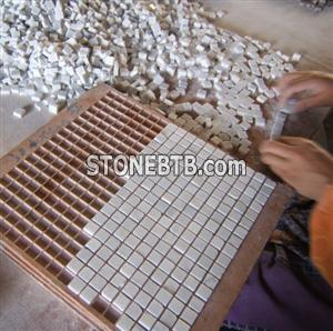 Marble Mosaic Marble Water Jet Medallion Marble Carpet