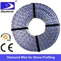 Diamond wire saw for stationary cutting