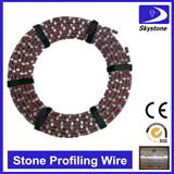Diamond wire for cutting marble and granite