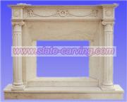 marble fierplace,stone fireplace,simple fireplace