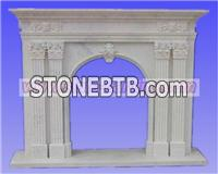 simple fireplace,stone fireplace,stone carving
