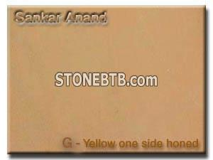 G-yellow one side honed