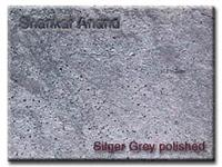 silver grey polished
