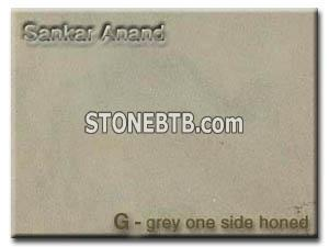 Grey, one side honed