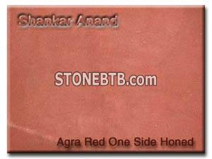 Agra Red Sandstone one side honed