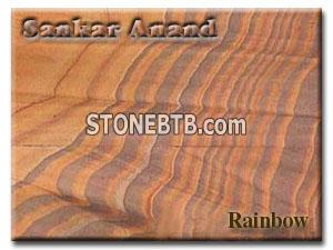 rainbow polished Sandstone