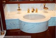 Sink in Bianco Statuario with top in LM