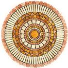 Travertine Mosaic Medallions Tabletops
