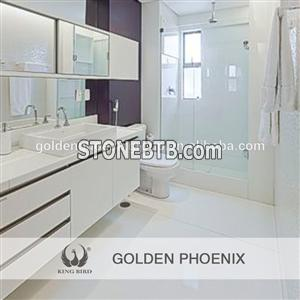 Polished Super White Nano Crystallized Glass Stone for Bath Basin and bathroom wall