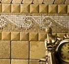 Gold Travertine Tumbled Tile, Molding