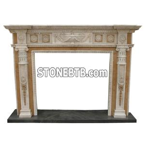 Fireplace Mantel, Carving Stone Fireplaces