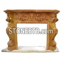 Indoor Marble Fireplace
