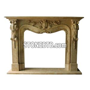 Fireplace Mantel Carving Stone Fireplaces