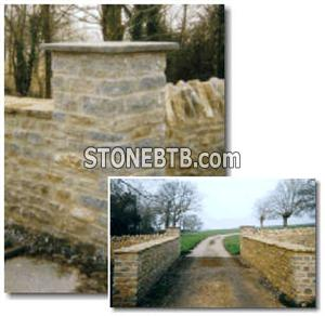 Building Stone gate