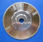 Continuous rim Electroplated diamond blades with