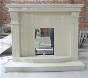 marble fireplace, marfil marble, micro marble mantels, surround