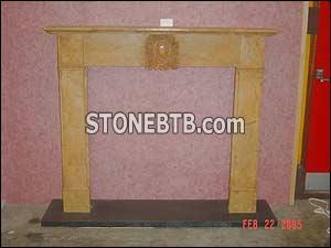 Yellow Marble Fireplace58